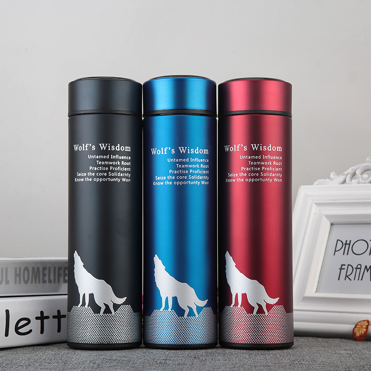 Double Wall Wolf Vacuum Insulated Stainless Steel Water Bottle, hot and cold water bottle Both Keep Warm & Cold