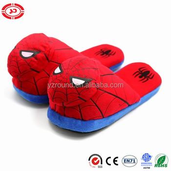 6f46aeebc96 Spider Red Man Plush Kids Soft Warm Slippers - Buy Soft Cozy Plush ...