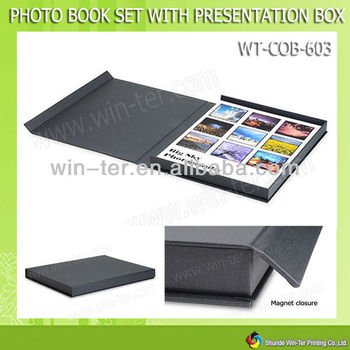 Wt-cob-603 Coffee Table Book Magnetic Closure Folding Box