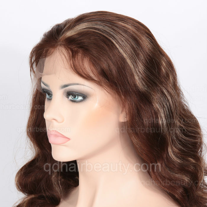 Indian Hair Highlight Color Large Head Size Wigs - Buy Large Head ... 39c608b05