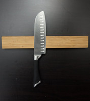 14 Inch Bamboo Wood Magnetic Knife Storage Holder Strip Block