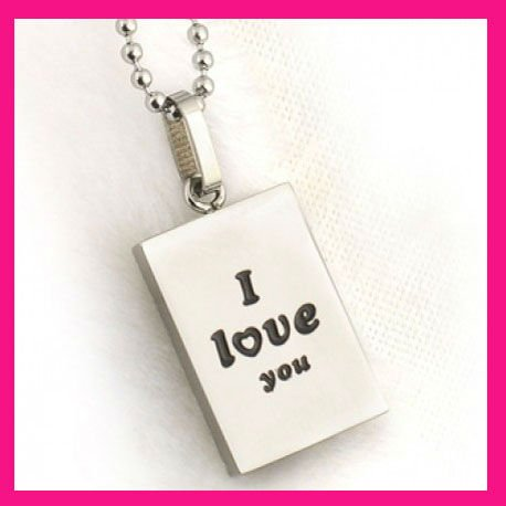 fashion faith hope i love you promise letter dog tag ball chain necklace