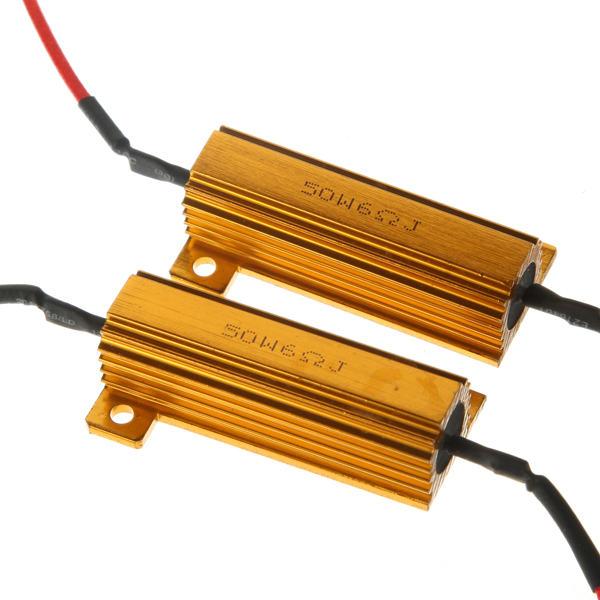 Passive Components Cheap Sale Hot Sale 2pcs 50w Load Resistors Led Flash Rate Turn Signals Light Indicator Controllers Brake Running Motorcycle Resistors