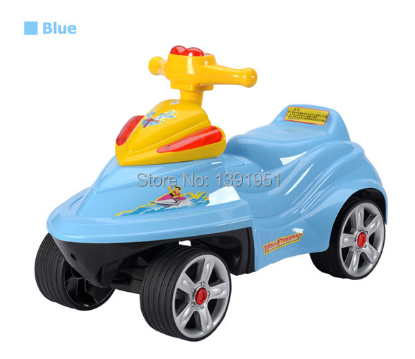 cute motorboat kids ride strollers for children ride on toys with 3 colors cutest baby sliding