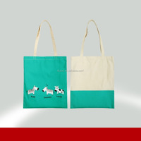 Promotional Custom Standard Size Blank Cotton Canvas Tote Bag