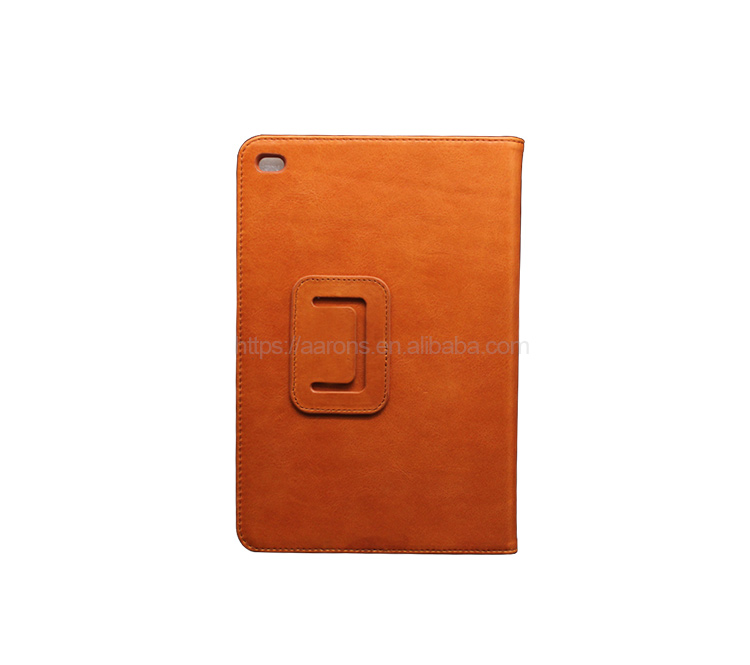 High quality new product luxury genuine cow leather protective case for iPad mini 4