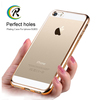 Manufacturer silicone mobile phone plating case for iPhone 5C phone accessories electroplate