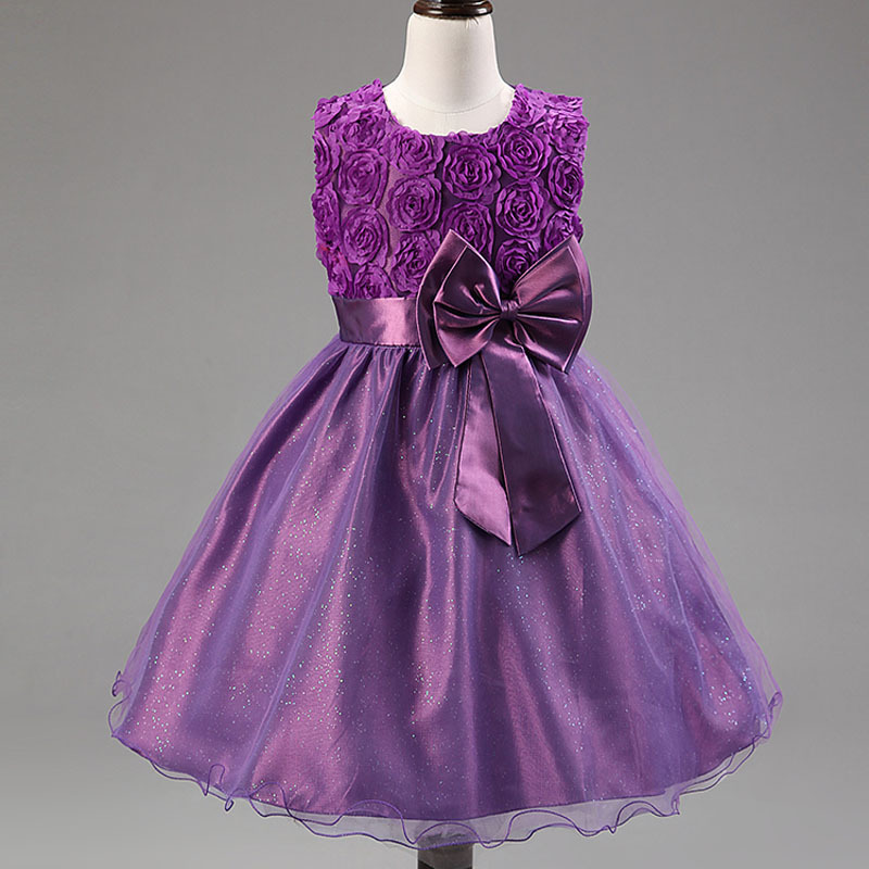 Hot Selling Kids Dresses Flower Girls Dresses Party and