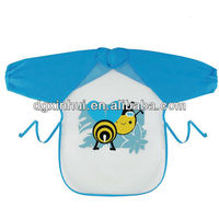 Great quality PEVA cycling personalized baby bibs with sleeve