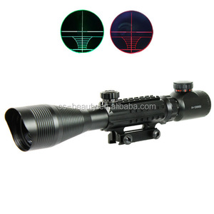 C4-12X50 EG Tactical Optical Rifle Air Gun Scope Red Green Dual illuminated With Side Rails & Mount Hunting Airsoft