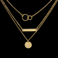 Inspire Stainless Steel Jewelry cheap women rose gold silver jewelry multi layer necklaces