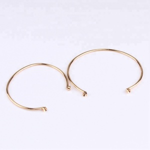 fashion child bangle simple gold color iron bracelet with crystal setting