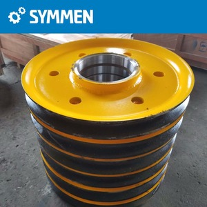 Steel wire rope sheave pulley for trolley sheaves, crane pulley wheel, port crane pulley wheels