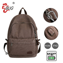 Wholesale China Manufacturer Vintage School Backpacks Usb Canvas Backpack for 14 inch Computer