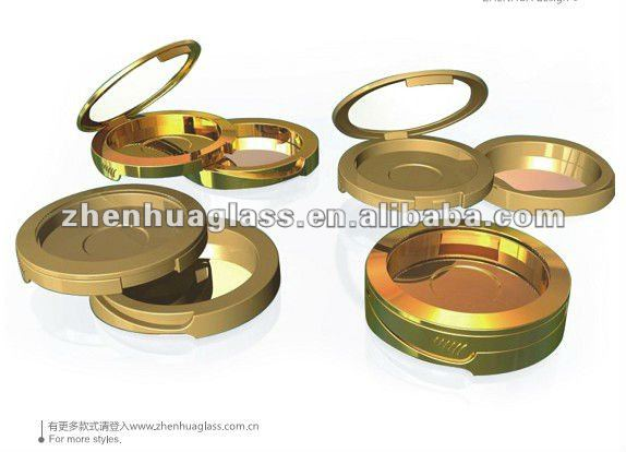 Round plastic powder box