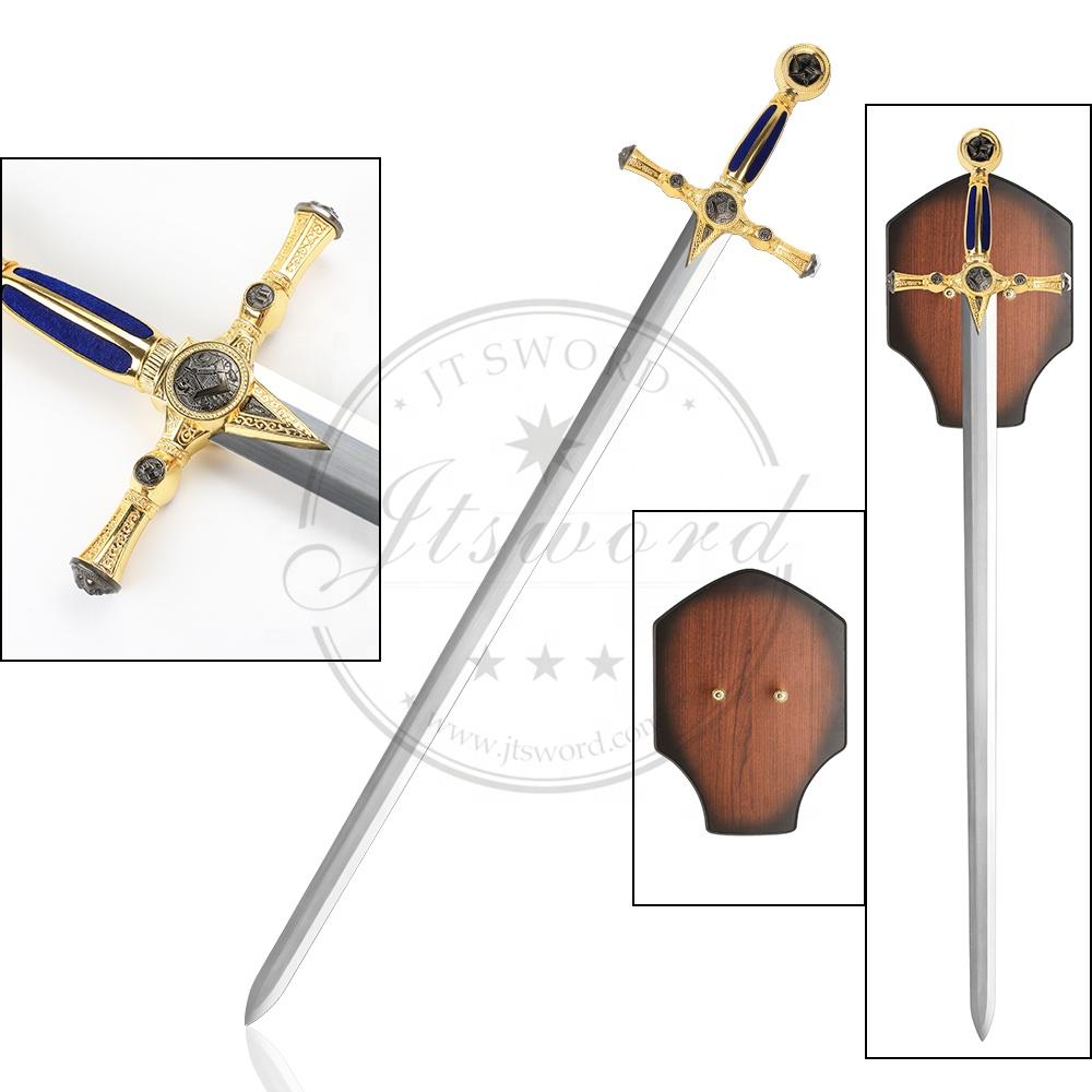 Antique Gold Medieval Gome Decor Metal Masonic Sword - Buy Masonic,Masonic  Sword,Medieval Product on Alibaba com
