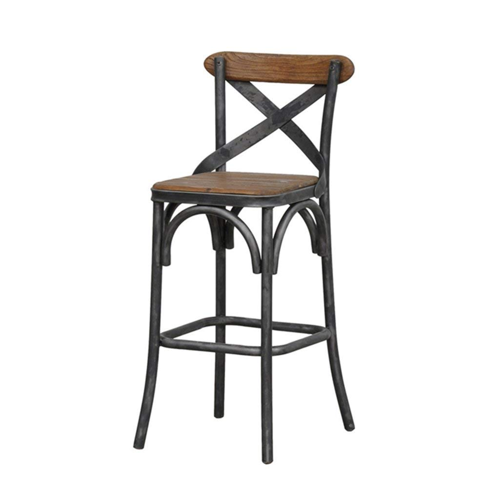 Barstools MAZHONG American Retro Wrought Iron Bar Stools High Chair Bar Tables And Chairs Cafe Restaurant Front Desk Bar Stools