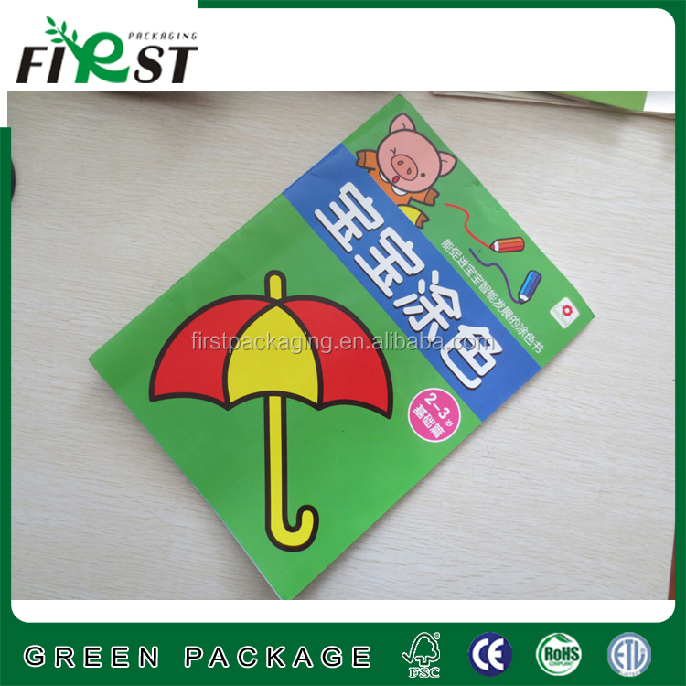 Custom top quality hot sale watercolor crayons books for educational children