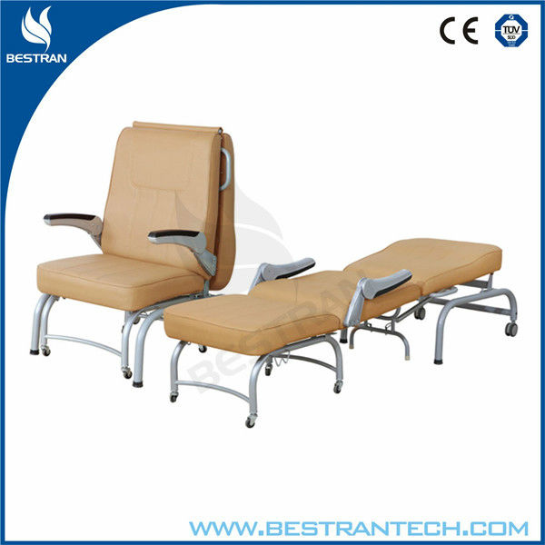 BT CN005 Medical Furniture Hospital Folding Chair Foldable Attendant Chair  Accompany Chair Reclining Hospital Beds
