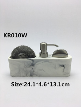 High Quality Kitchen Accessories Dishwashing Dispenser Liquid Soap Dispenser  With Sponge Holder