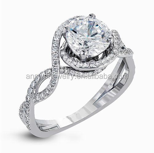 Real diamond engagement rings custom 1 pc
