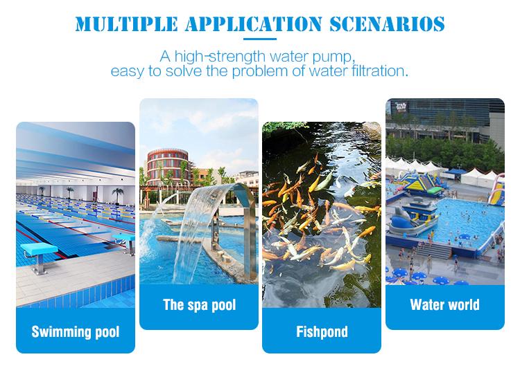 สปาสระว่ายน้ำขนาดใหญ่กระแสเงินสดพาณิชย์ไฟฟ้ามอเตอร์ 800W สระว่ายน้ำปั๊ม