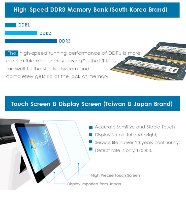 China Big Factory Good Price Touch Screen Windows Pos System
