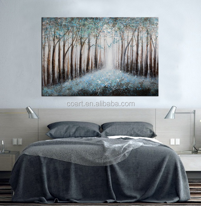 Stretched Leasted Canvas Landscape Art Oil Painting