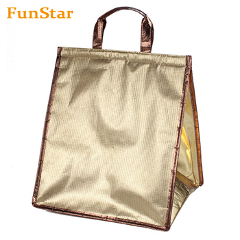 Christmas Gift Promotional Flexible Leakproof Ice Folding Stand Lunch Pack Cake Cooler Bags Promotional Custom Logo Wholesale