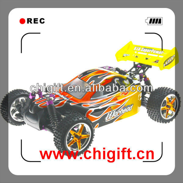 HSP Racing Nitro Engine Car 1/10th Scale Nitro Off-Road 4WD RC Buggy-Two Speed RTR