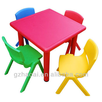 Hl 6401 lovely stable plastic kindergarten table and chair for Set de table pvc
