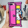 3D Cute Cartoon Kitty Phone Case for iPhone 6 6S Plus 7 7 Plus Soft Silicone Cover Shockproof Fundas Coque