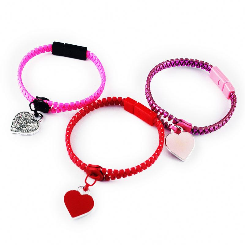Best seller OEM design multicolor lovely zipper bracelet