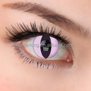 CL142 pink cateye sexy wild eye look cosmetic color contact lens