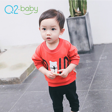 Q2-baby Custom Design Cute Animal Printed Plain Toddler Baby T Shirts