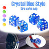 BYC Car Special Blue Dice Valve Caps, Auto Styling