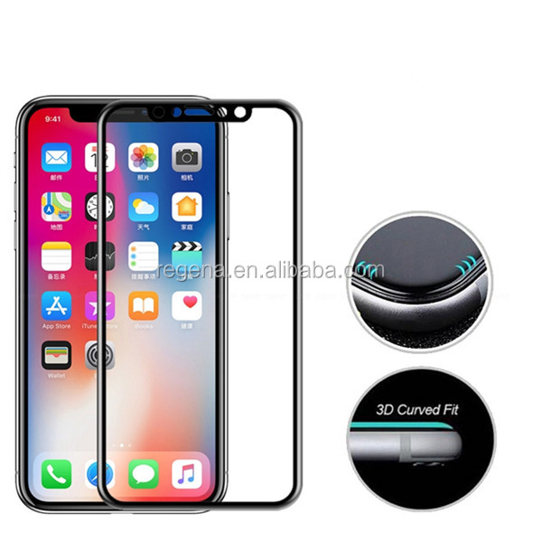 2017 new products free sample 투명 clear 3D 9 H 경도 강화 (gorilla glass) screen protector 대 한 iPhone x