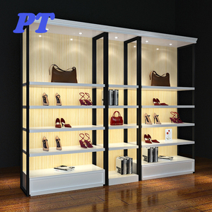New style wall mounted display racks shoe rack and bag with wall shelves