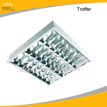 T5 3x14w Fluorescent Office Ceiling Light Fixture,Troffer,Grille ...