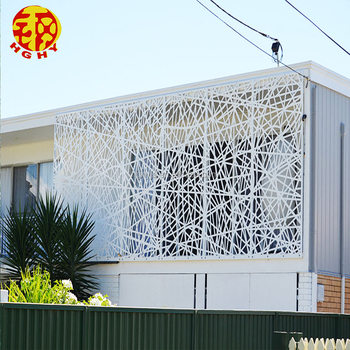 Stainless Steel Metal Facade Panel Perforated Privacy