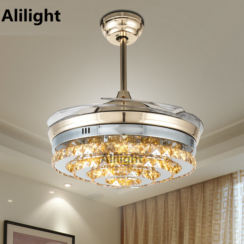 Online Get Cheap Crystal Ceiling Fan Aliexpress Com