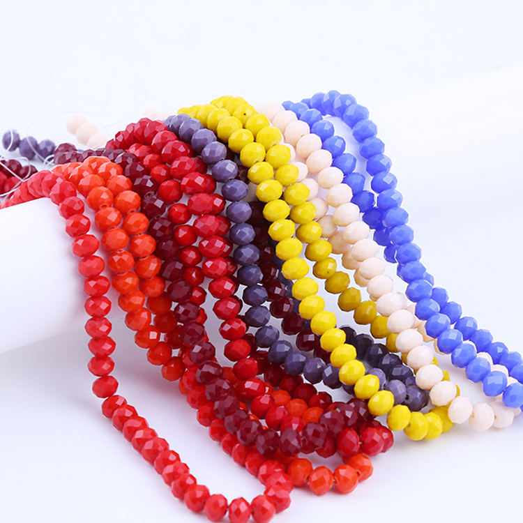 Sonder Factory Wholesale 2mm-10mm Rondelle Beads Crystal Beads for Jewelry Making
