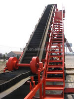 Steel inclined belt conveyors from conveyor equipment manufacturers