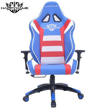 ODM Leather Racing Car Seat Style Office Chair OS 7608 G21