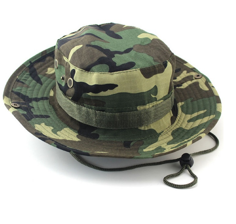 699fc316e Cotton 14Colors Military Camouflage Bucket Hats Camo Fisherman Hats With  Wide Brim Sun Fishing Bucket Hat Camping Hunting Hat