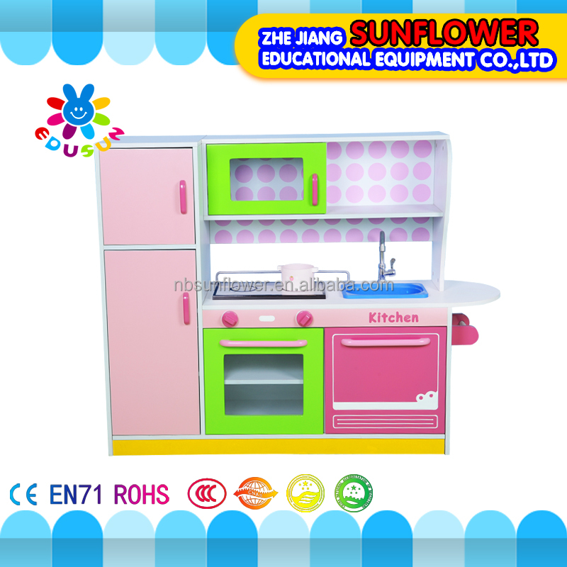 Wooden play kitchen kids fashion interaction children hands-on training toy cutlery play set