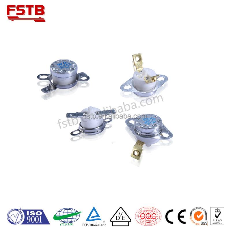 KSD301 N//O 65 C 10A Normally Open Temperature Switch Bimetal Disc Klixon