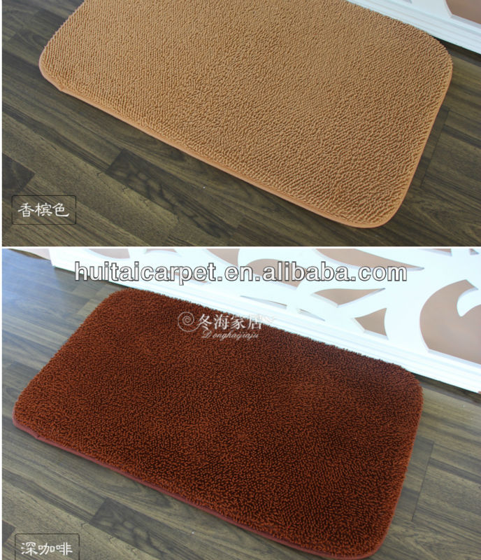 chenille floor mat pvc anti-slip backing bathmat living room rugs song zhen