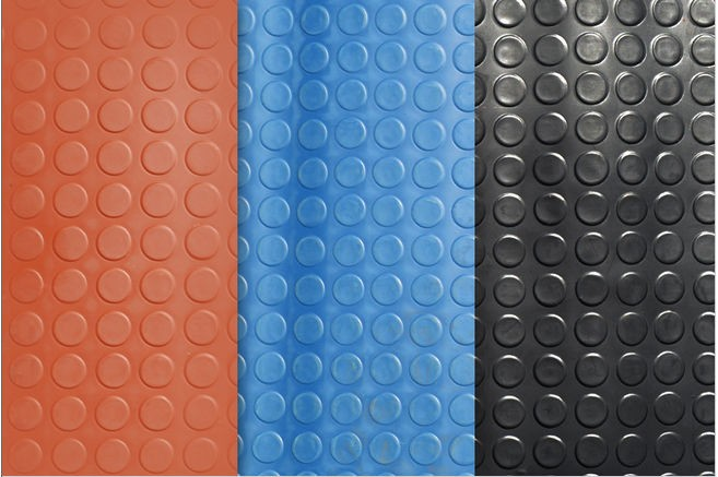 Round Stud Rubber Floor Mat Anti Slip Rubber Matting Small