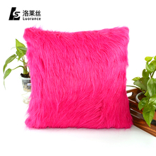 Cheap price different shape faux fur fancy cushion covers home decor